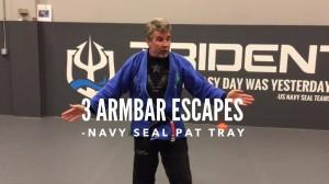 Pat Tray's 3 Armbar Escapes