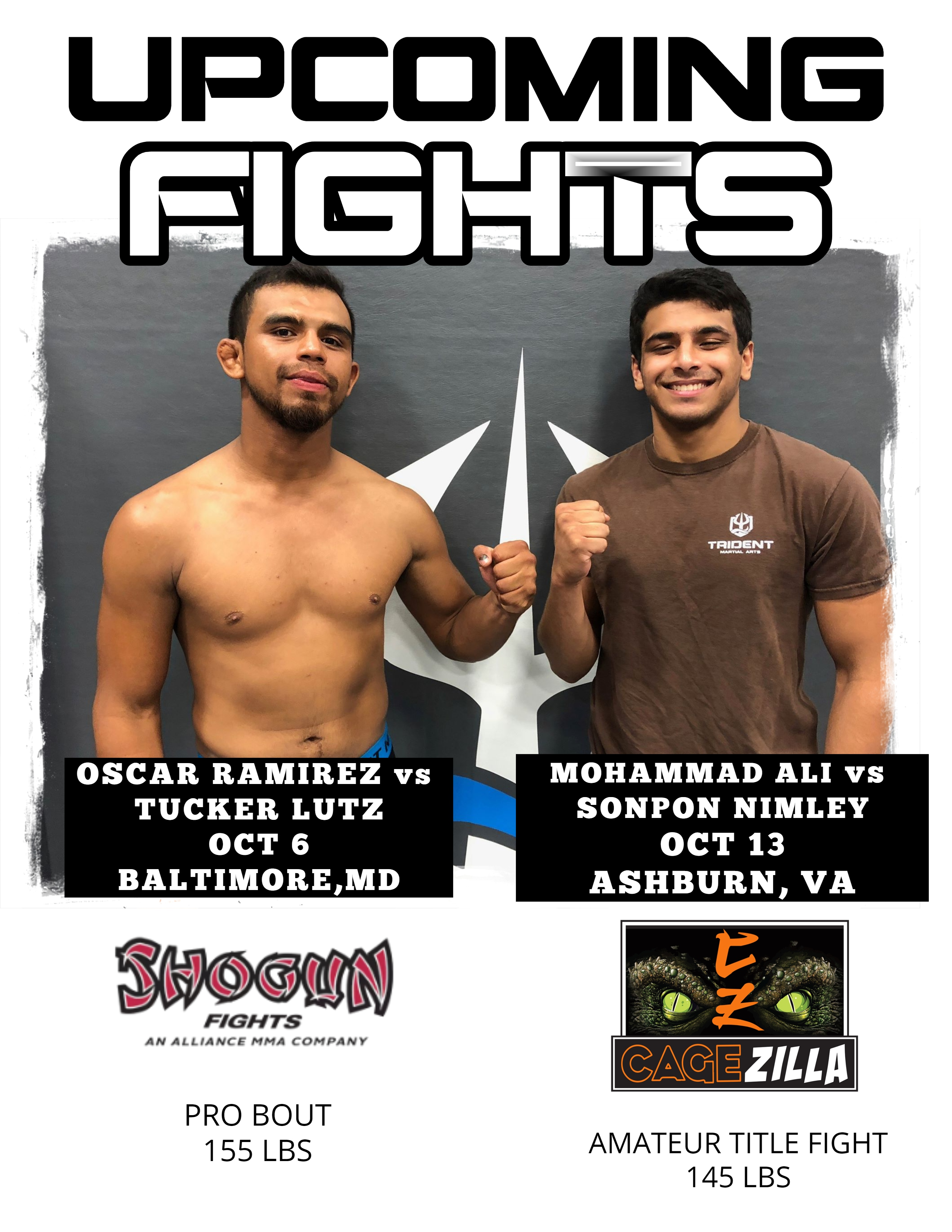Upcoming Trident MMA Fights
